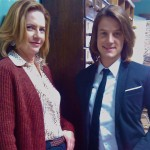 """Evan & I between takes on """"The Fortune Theory"""". We had so much fun!!"""